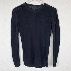 Fate by LFD Nordstrom Stripe Mesh Black Sweater M